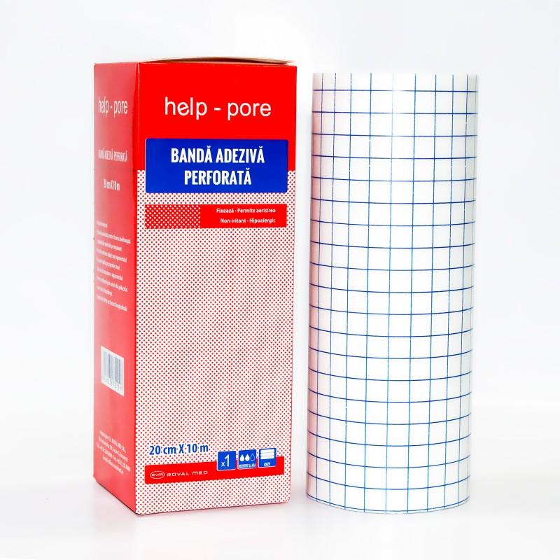 Banda adeziva perforata Help-Pore 20cm x 10m