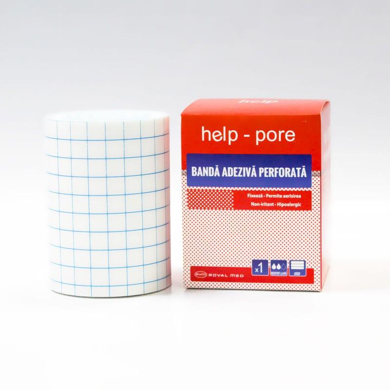 Banda adeziva perforata Help-Pore 5cm x 10m