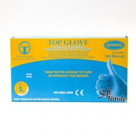 Manusi examinare nitril nepudrate Top Glove - 100 buc / cut