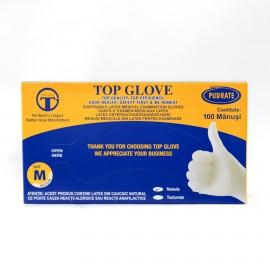 Manusi de examinare din latex Top Glove - PUDRATE