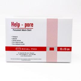 Pansament adeziv steril Help-Pore 10cm x 10cm - cutie 50 buc