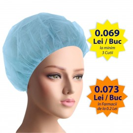 Bonete chirurgicale cu elastic - 100buc