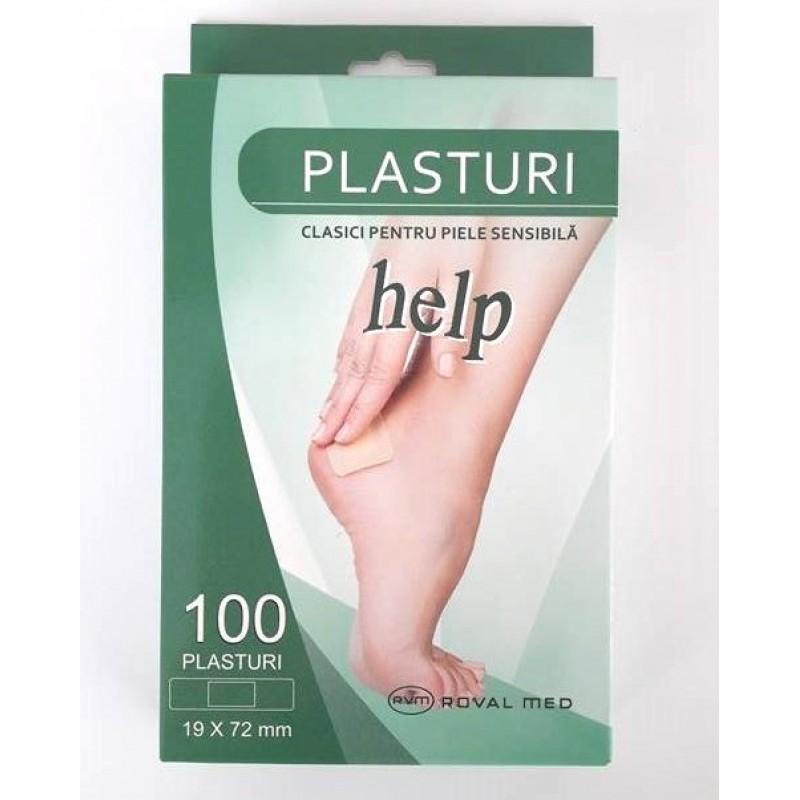 Plasturi piele sensibila HELP 19 x 72mm - 100 buc